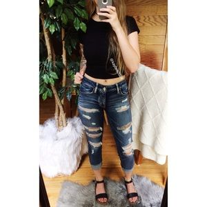 🌿 AE Distressed Crop Jegging 🌿